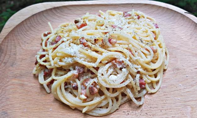 Špagety carbonara po zálesácku